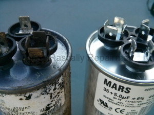 old and new capacitor